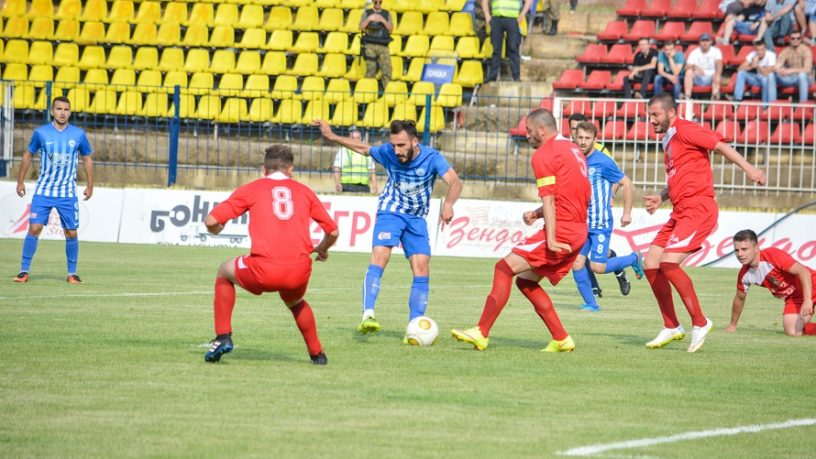 Shkupi attacking at Novaci; photo: FC Shkupi