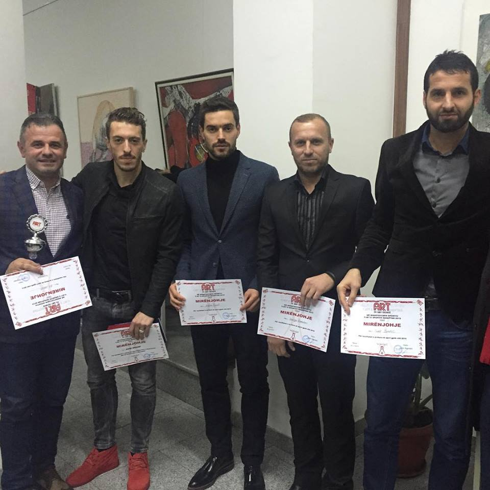 Drejtori i FC Shkupi Visar Ganiu, Agim Ibraimi, Ardian Cuculi, Zekirja Ramadani dhe Suat Zendeli